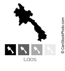 Map of the country of Laos - A Map of the country of Laos
