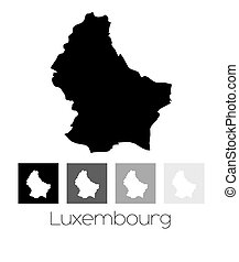 Map of the country of Luxembourg - A Map of the country of...