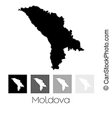 Map of the country of Moldova - A Map of the country of...