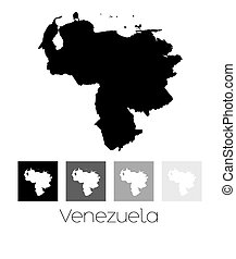 Map of the country of Venezuela - A Map of the country of...