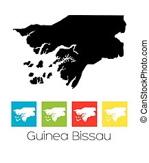 Outlines and Coloured Squares of the Country of Guinea...