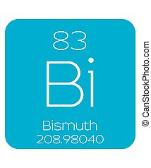 Informative Illustration of the Periodic Element - Bismuth -...