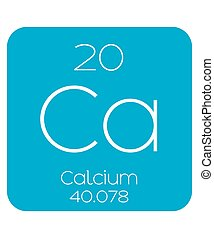 Informative Illustration of the Periodic Element - Calcium -...