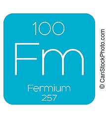 Informative Illustration of the Periodic Element - Fermium -...