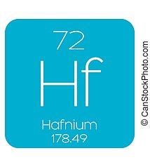 Informative Illustration of the Periodic Element - Hafnium -...