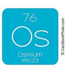 Informative Illustration of the Periodic Element - Osmium -...