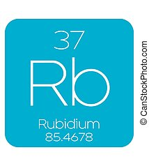 Informative Illustration of the Periodic Element - Rubidium...