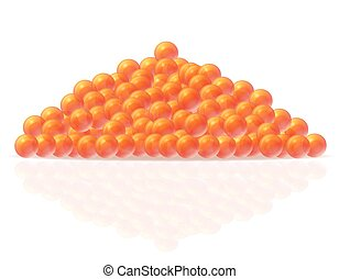 red caviar vector illustration isolated on white background
