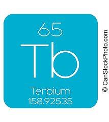 Informative Illustration of the Periodic Element - Terbium -...