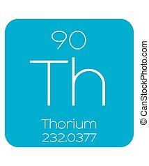 Informative Illustration of the Periodic Element - Thorium -...