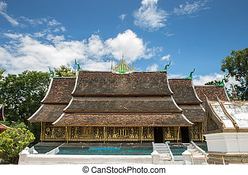 laos - A side view of wat Xieng Thong in Luang Prabang ,...