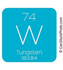 Informative Illustration of the Periodic Element - Tungsten...