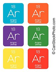 Informative Illustration of the Periodic Element - Argon -...