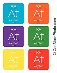 Informative Illustration of the Periodic Element - Astatine...