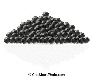 black caviar vector illustration isolated on white...
