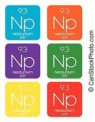Informative Illustration of the Periodic Element - Neptunium...