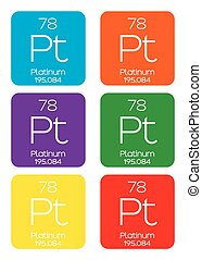 Informative Illustration of the Periodic Element - Platinum...