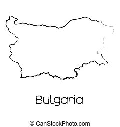 Scribbled Shape of the Country of Bulgaria - A Scribbled...