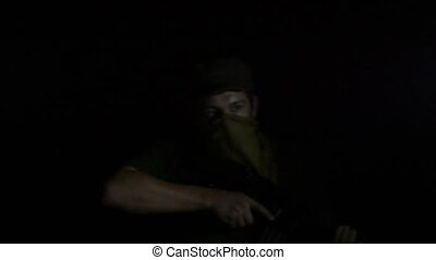 Bearded Watchman With a Rifle Someone Saw in the Dark -...