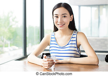 girl leisure time - close up portrait of cute girl ,with...