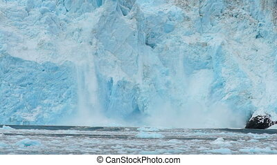 Aialik Glacier Ice Flow Pacific Ocean Alaska Coast - Little...