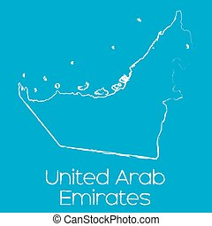 Map of the country of United Arab Emirates - A Map of the...