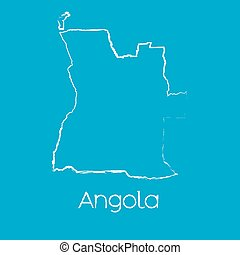 Map of the country of Angola - A Map of the country of...