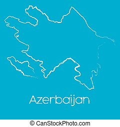 Map of the country of Azerbaijan - A Map of the country of...
