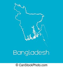 Map of the country of Bangladesh - A Map of the country of...