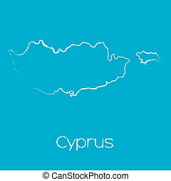 Map of the country of Cyprus - A Map of the country of...
