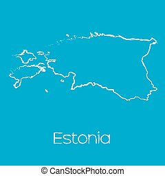 Map of the country of Estonia - A Map of the country of...