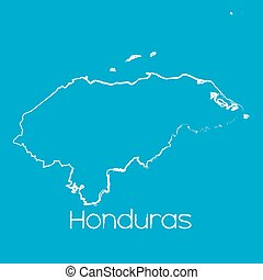 Map of the country of Honduras - A Map of the country of...