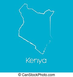 Map of the country of Kenya - A Map of the country of Kenya