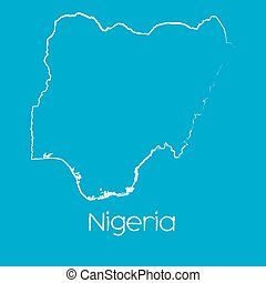 Map of the country of Nigeria - A Map of the country of...
