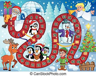 Board game image with Christmas theme