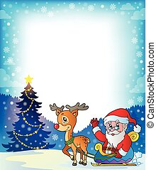 Frame with Santa Claus theme