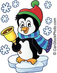 Christmas penguin topic image