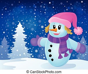 Winter snowwoman topic image