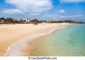 Santa Maria beach in Sal Island Cape Verde - Cabo Verde -...