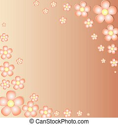 Stylized Orange Flowers - background made with Stylized...