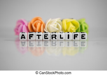 Afterlife text message with flowers