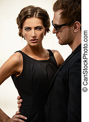 imposing people - Portrait of a beautiful man and woman...