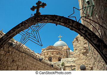 Church Of The Holy Sepulchre from Via Doloros - Church Of...