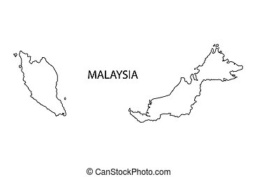 outline of Malaysia map