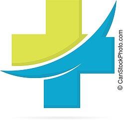 Medical pharmacy logo design - Vector logo or icon design...