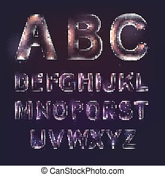 Font alphabet - Font alphabet symbols in style of...