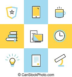 Education vector icons. Scool or university