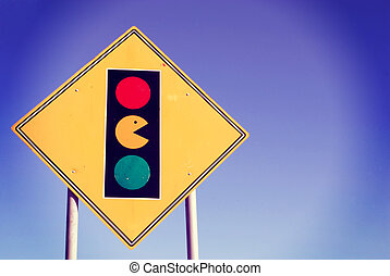 Game zone pacman traffic light sign arcade - Game zone...
