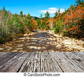 Swift River at autumn in White Mountain National Forest, New...