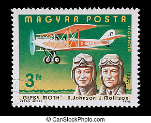 johnson & mollison - Hungarian mail stamp featuring...